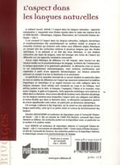 Aspect dans les langues naturelles ; approche comparative - 4ème de couverture - Format classique