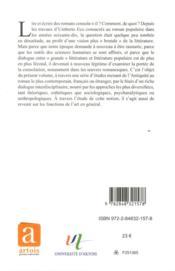 Litterature narrative et consolation - 4ème de couverture - Format classique