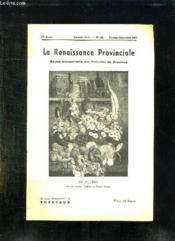La Renaissance Provinciale N° 105 Fevrier Mars Avril 1954. En Bigorre Coin De Cuisine Tableau De Osmin Ricau. - Couverture - Format classique