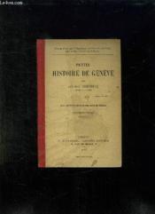 PETITE HISTOIRE DE GENEVE. 5em EDITION. - Couverture - Format classique