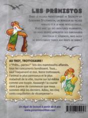 Les préhistos T.4 ; au trot, Trottosaure ! - 4ème de couverture - Format classique