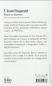 Beaux et damnés - 4ème de couverture - Format classique