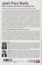 Jean-Claude Bailly : réconcilier société et entreprise - 4ème de couverture - Format classique