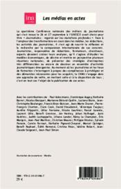Journalisme en questions ; réponses internationales - 4ème de couverture - Format classique
