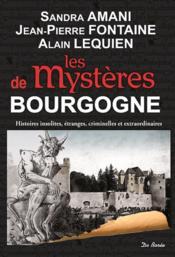 Les mystères de Bourgogne ; histoires insolites, étranges, criminelles et extraordinaires - Couverture - Format classique