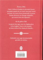 Outlander t.1 ; le chardon et le tartan - 4ème de couverture - Format classique