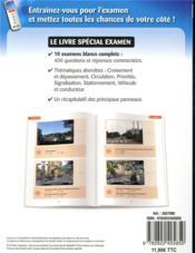 Code de la route spécial examen - 4ème de couverture - Format classique