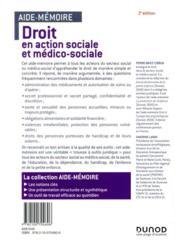 Droit en action sociale et médico-sociale en 45 notions (3e édition) - 4ème de couverture - Format classique