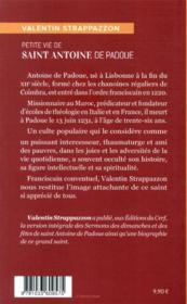 Petite vie de saint Antoine de Padoue - 4ème de couverture - Format classique