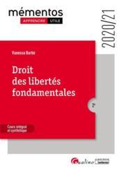 Droit des libertés fondamentales (édition 2020/2021) - Couverture - Format classique