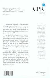 L'euro et l'unite de l'europe ; edition 2001 - 4ème de couverture - Format classique