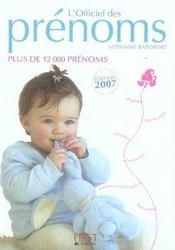 L'Officiel Des Prenoms 2007 - Intérieur - Format classique