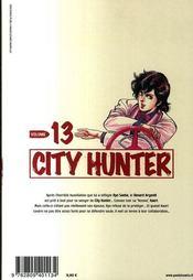 City hunter t.13 - 4ème de couverture - Format classique