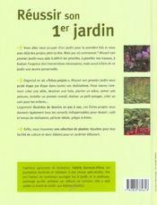 Reussir Son 1er Jardin - 4ème de couverture - Format classique
