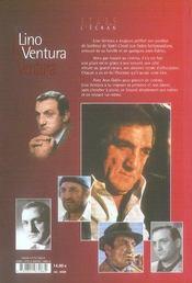 Lino Ventura ; un fauve au coeur tendre - 4ème de couverture - Format classique