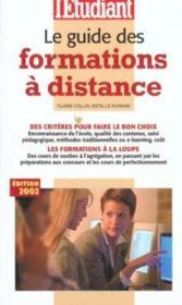 Le Guide Des Formations A Distance - Couverture - Format classique