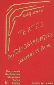 Text. autobio - doc barr - Couverture - Format classique