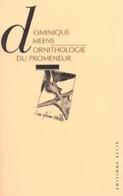 Ornithologie Du Promeneur 1 - Livres I-Ii - Intérieur - Format classique