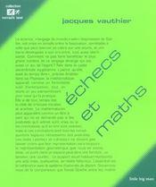 Echecs et maths - Intérieur - Format classique