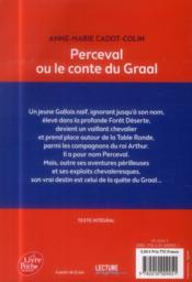 Perceval ou le conte du Graal - 4ème de couverture - Format classique