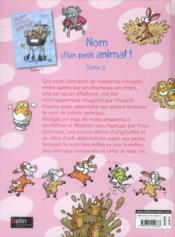 Nom d'un petit animal ! t.2 - 4ème de couverture - Format classique