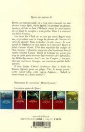 Bjorn aux armées t.2 ; les mille bannières - 4ème de couverture - Format classique