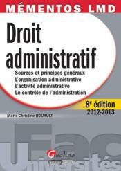 Droit administratif (8e édition) - Couverture - Format classique