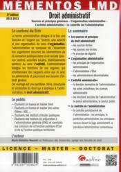 Droit administratif (8e édition) - 4ème de couverture - Format classique