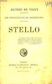 Les Consultations Du Docteur Noir. Stello. - Couverture - Format classique