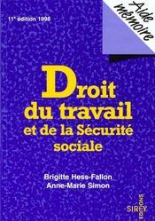 Droit Du Travail Et De La Securite Sociale - Intérieur - Format classique
