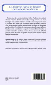 La femme dans le théâtre de Robert Poudérou - Couverture - Format classique