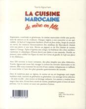La cuisine marocaine - 4ème de couverture - Format classique