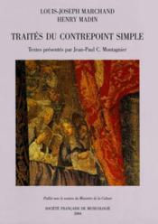 Traités du contrepoint simple - Couverture - Format classique