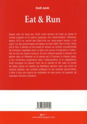 Eat & run - 4ème de couverture - Format classique