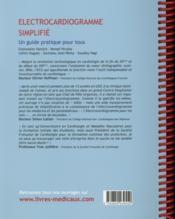 Électrocardiogramme simplifié ; un guide pratique pour tous - 4ème de couverture - Format classique