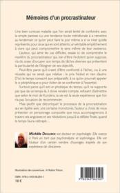 Mémoires d'un procrastinateur - 4ème de couverture - Format classique