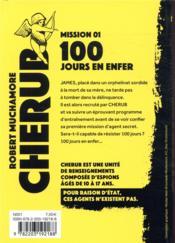 Cherub mission T.1 ; 100 jours en enfer - 4ème de couverture - Format classique