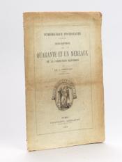 Numismatique protestante. Description de quarante et un Méreaux de la Communion Réformée [ Edition originale ] - Couverture - Format classique