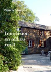 Immersion en milieu rural - Couverture - Format classique