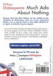 Petits classiques bilingues ; much ado about nothing - 4ème de couverture - Format classique