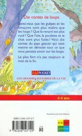 Dix Contes De Loups - 4ème de couverture - Format classique