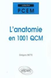 L'anatomie en 1001 QCM - Couverture - Format classique