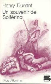 Un souvenir de Solférino - Couverture - Format classique