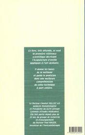 L'auriculotherapie appliquee a l'art dentaire - 4ème de couverture - Format classique