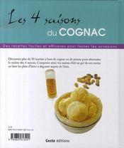 Les 4 saisons du cognac et son inséparable pineau - 4ème de couverture - Format classique