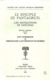 Le disciple de pantagruel (les navigations de panurge) - Couverture - Format classique