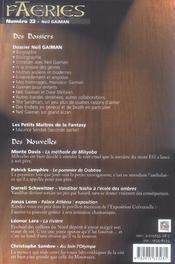 Faeries 22 neil gaiman - 4ème de couverture - Format classique