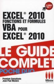 Excel 2010 ; fonctions et formules & VBA pour Excel 2010 - Couverture - Format classique