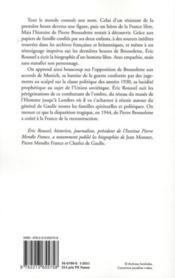 Pierre Brossolette - 4ème de couverture - Format classique