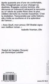 Soufi, mon amour - 4ème de couverture - Format classique